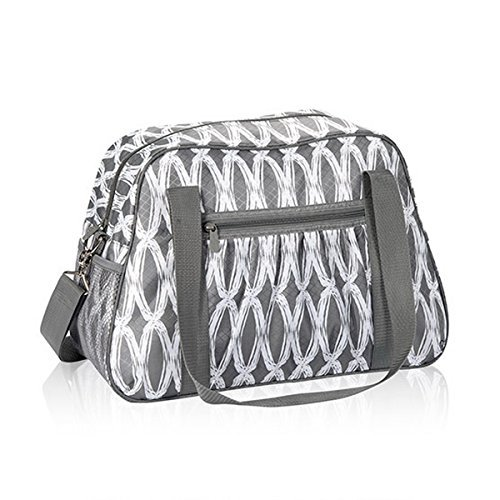Thirty One All-In Tote in Charcoal Links - No Monogram - 6212