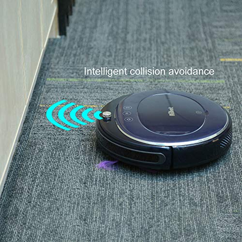 Glumes Smart Robotic Vacuum, Pet Hair Care, Powerful Suction Tangle-free, Super Quiet, Slim Design, Auto Charge, Daily Planning, Good For Hard Floor and Low Pile Carpet Ideal Gift BF Sales (Ship from US!) (Blue) by Glumes (Image #5)