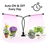 Grow Light for Indoor Plants, Ejoyous 24W Dual Head Grow Lamp 36LED 5 Dimmable Levels Grow Lamp Bulbs with Adjustable 360 Degree Gooseneck for Indoor Plants Hydroponics Greenhouse Gardening