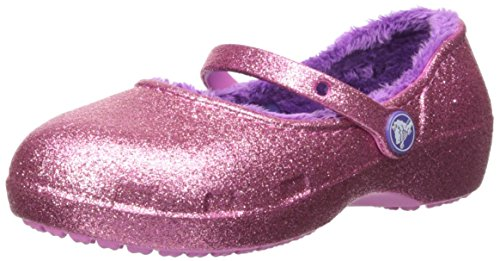 Crocs Girls Karin Sparkle Lined Clogk Clog, Party Pink, 10 M US Toddler