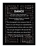 "Posters and Prints by Magnetic Impressions Dance Styles 13.75"" x 17"" Vinyl Wall Decal"