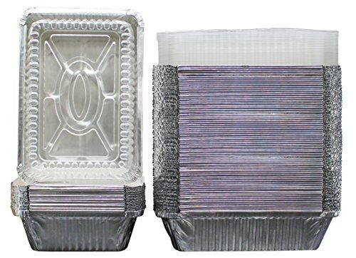 Oblong Tin Foil Pans With Clear Plastic Lids Freezer