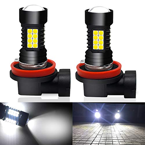 Viesyled H11 H8 H9 LED Fog Lights Bulbs 3030SMD 1800 Lumens 6000K DRL Daytime Running Light Bulb Replacement Super Bright White Pack of 2, 2 Year Warranty   (Yes Sir No Sir Three Bags Full Sir)