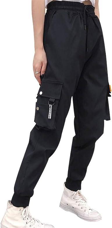 Tasty Life Pantalones De Mujer Cargo Bolsillos Grandes Pantalones De Carga Mujer Pantalones De Cintura Alta Sueltos Streetwear Tacticos Hip Hop Pantalones De Jogging Amazon Es Ropa Y Accesorios