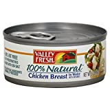 Valley Fresh 100% Natural Chicken Breast in Water 5 Oz (Pack of 6)