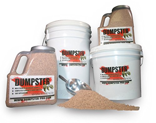 - Dumpster Pro Garbage Deodorizer Maximum Strength Absorbing Granules Completely Eliminates Odors and Flies (40 Pounds)