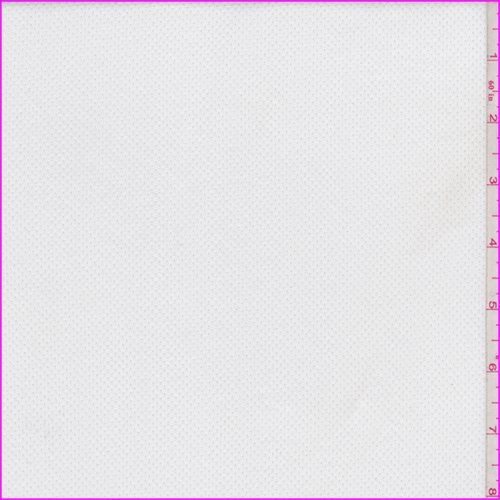 Cloud White Fleece Back Stretch Mesh, Fabric Sold By the