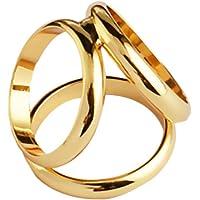 Baosity Triple Slide Buckle Shawl Ring Clip Tricyclic Scarves Buckle Brooch Jewelry