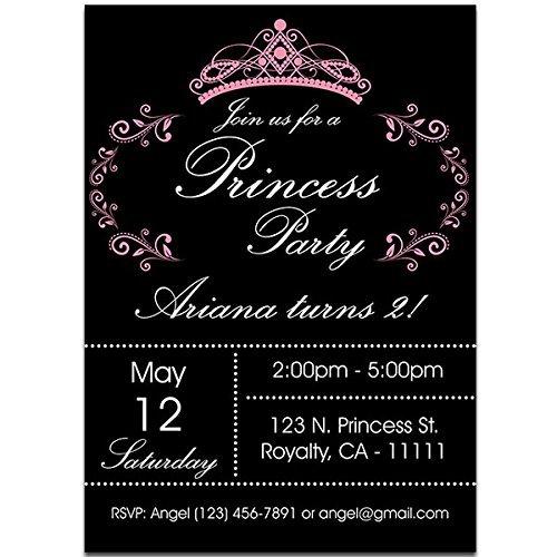 amazon com princess black and pink birthday party invitations handmade