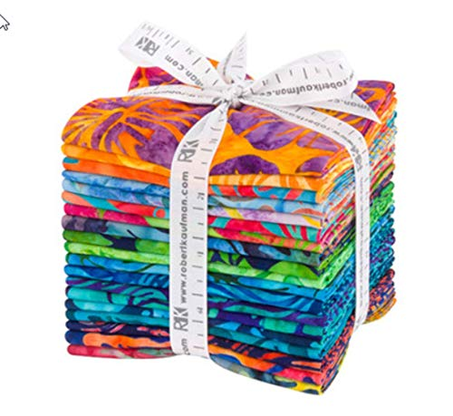 Lunn Studios Artisan Batiks Totally Tropical 19 Fat Quarters Robert Kaufman Fabrics ()