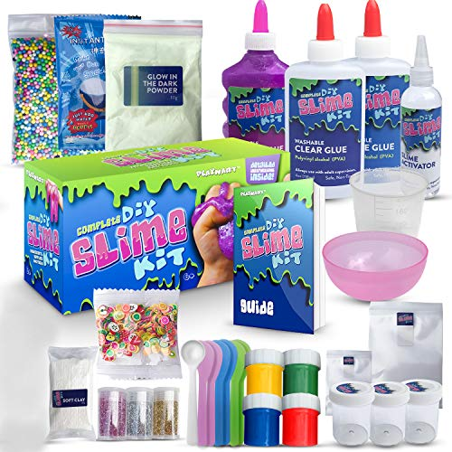 ULTIMATE DIY SLIME KIT for Girls & Boys | ALL YOU NEED TO MAKE SLIMES IN  ONE BOX |Ingredients, Tools, Containers, Guide, e-book & Slime Supplies|