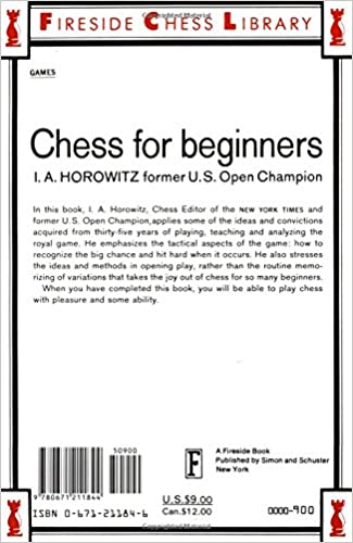 Chess For Beginners: Israel A. Horowitz, Sol Horowitz ...