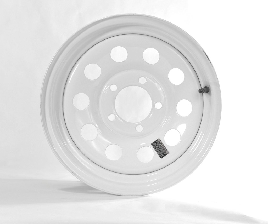 eCustomRim Trailer Rim Wheel 14'' x 5.5'' 14x5.5 5 Lug Hole Bolt Wheel White Modular Design