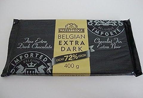 Imported from Belgium EXTRA DARK CHOCOLATE 72% Cocoa Large 400 g/14.12 oz Bar - Cocoa Extra Dark Chocolate