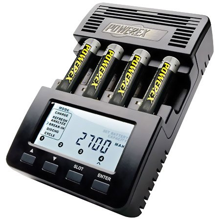 - Powerex MH-C9000 WizardOne Charger-Analyzer for 4 AA or AAA NiMH Batteries