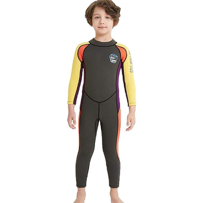 Unisex Kid Wet Suit Swimwear Diving Short Sleeve Sun Protective Surfing Swimsuit