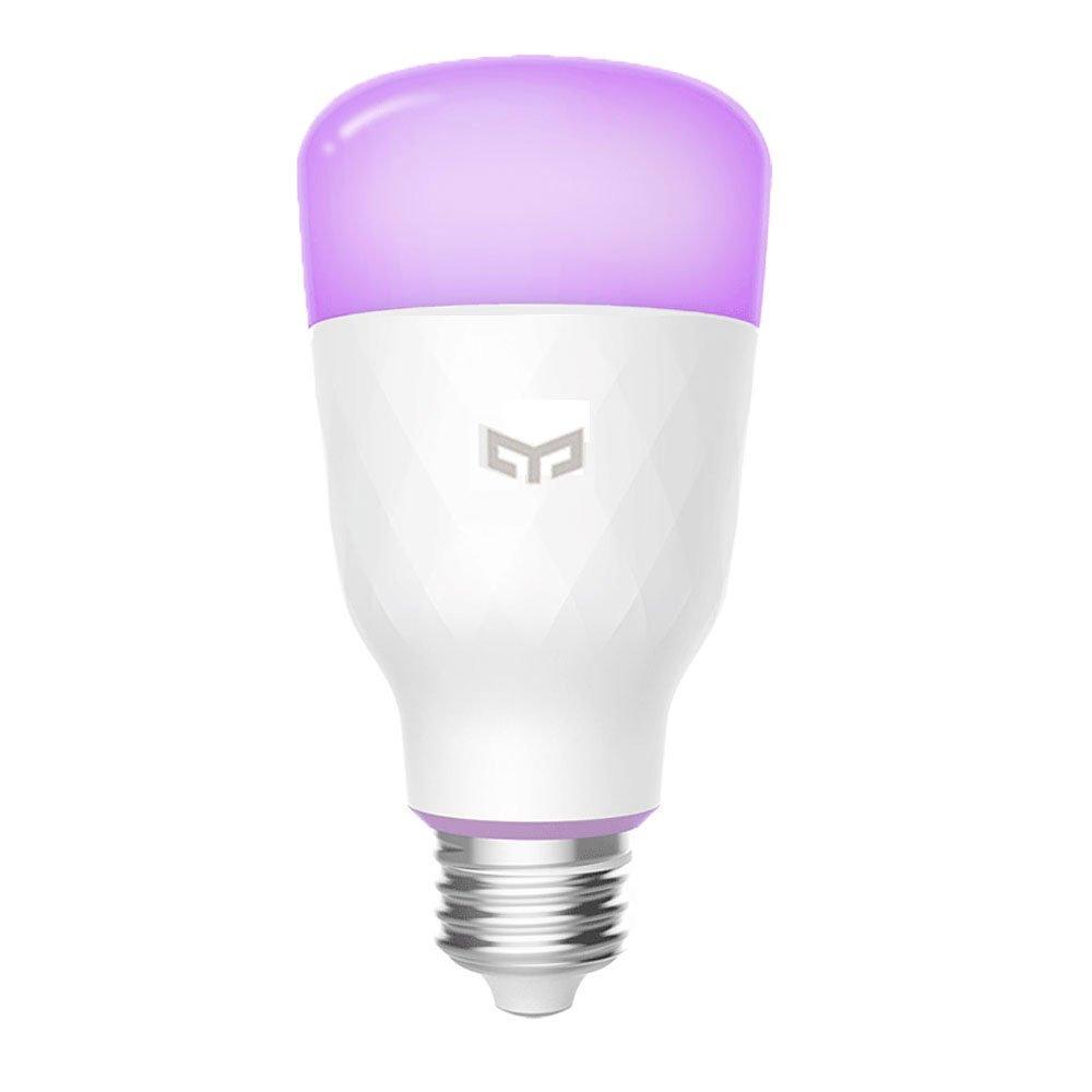 Smart LED Glü hbirne, 16 Millionen Farben E27 10W RGB Dimmbare 800lm Weiß licht Wi-Fi-Steuerung Smart Home App Fernbedienung Yeelight
