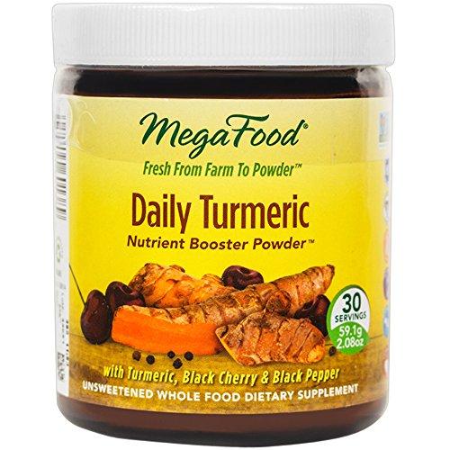 MegaFood - Booster de poudre de curcuma tous les jours, favorise le vieillissement en santé & Well-Being, 30 portions (2,08 oz) (FFP)