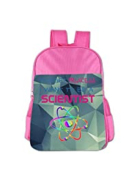 Mokjeiij Forget Princess, I Want To Be A Scientist Unisex Girls Boys School Backpack Children's