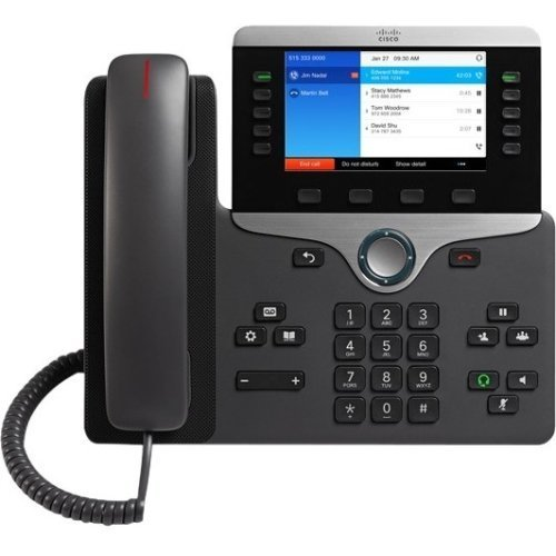 (Cisco Systems, Inc - Cisco 8841 Ip Phone - Cable - Wall Mountable - Voip - Caller Id - Speakerphoneunified Communications Manager, Unified Communications Manager Express, User Connect License - 2 X Network (Rj-45) - Poe Ports