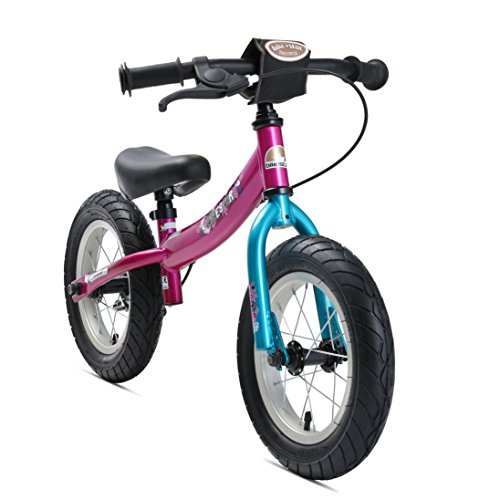 🥇 BIKESTAR Bicicleta sin Pedales para niños y niñas | Bici 12 Pulgadas a Partir de 3-4 años con Freno | 12″ Edición Sport Berry Turquesa
