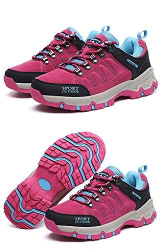 Herbst-Winter-Turnschuh-Paare Beschuht Im Freien Athletische Schuhe, Die Schuhe Wandern 38-44 Rose red