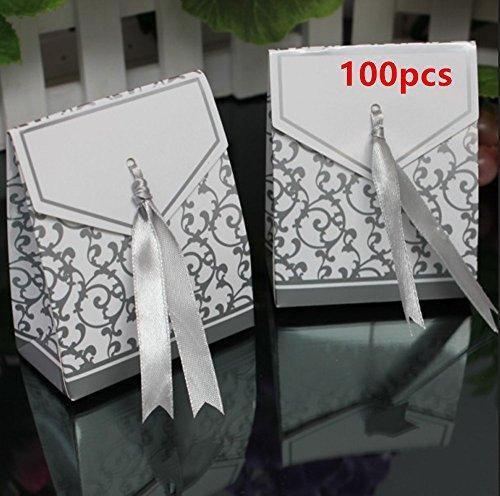 leoyoubei Candy Boxes 100 PCS Gift Boxes 2.75x3.25 Cake Boxe