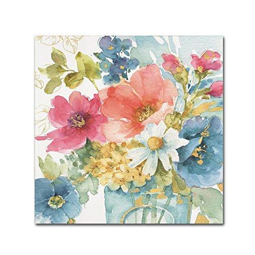 Trademark Fine Art My Garden Bouquet II by Lisa Audit, 24x24-Inch Canvas Wall (Botanical Bouquet)