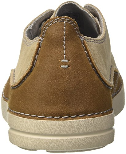 Sand Clarks Derby Zapatos Gosler para Hombre Edge Cordones Suede de Beige 7pqzS7wr
