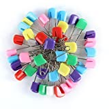 100Pcs 8 Colors Plastic Head Safety Pin Safety