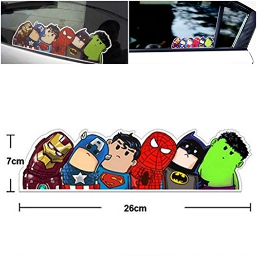 1 Pc Unequaled Popular Funny Avengers Ca - Six Bubble Mirror Border Shopping Results