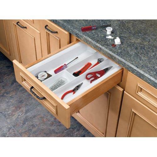 Rev-A-Shelf Small Utility Tray Drawer Organizers, Almond