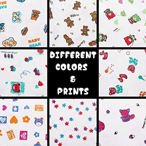 KurtzyNewbornBaby'sDress CottonJhablaClothwithNappies(Multicolor,0to6Months)Setof8