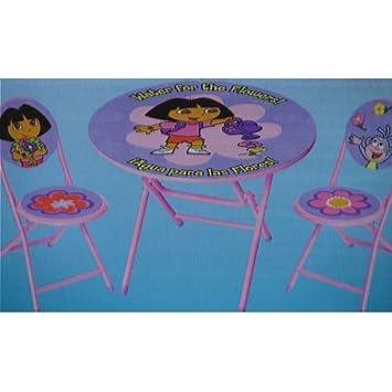 Dora the Explorer 3 Piece Table and Chair Set  sc 1 st  Amazon.ca & Dora the Explorer 3 Piece Table and Chair Set: Amazon.ca: Home \u0026 Kitchen