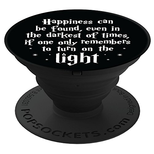 Brave New Look Happiness In Dark Times Pop Sockets Stand for Smartphones and Tablets by Brave New Look (Image #7)