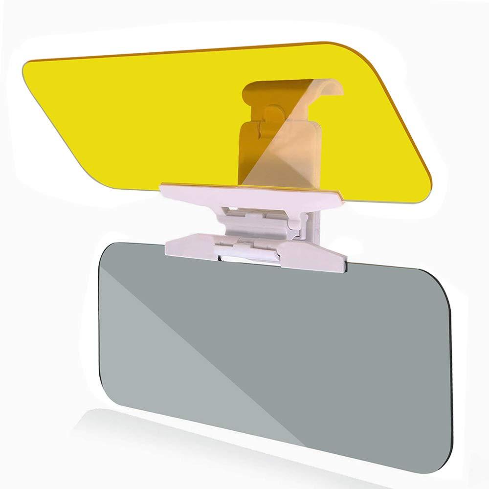Samoleus Auto Blendschutz Tag Nacht Sonnenschutz, 2 in 1 Sonnen Blendschutz Auto Sonnenblende, UV Block Visier Universelle fü r Alle Autos