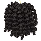 Silike Jumpy Wand Curl Crochet Braids (3 Pieces/Pack) Jamaican Bounce Synthetic Hair Extension For Women (#1B)