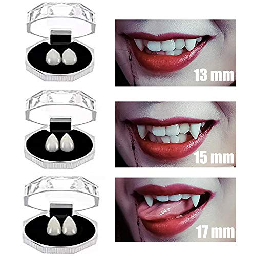 COOLJOY 3 Pairs Vampire Teeth fangs Halloween Party Cosplay Props Horror False Teeth Props Party Favors Cosplay Accessories]()