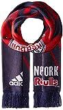 new york red bulls flag - MLS New York Red Bulls Adult Unisex MLS SP17 Fan Wear Center Logo Scarf with Fringe,Osfa,Blue