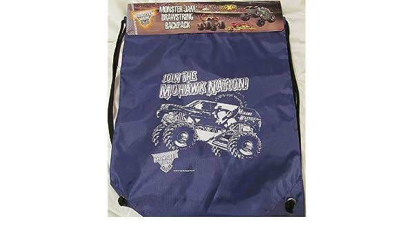 Amazon.com: Monster Jam Drawstring Backpack Mohawk Warrior ...