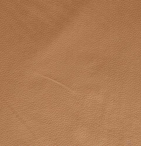 Top Quality Tan Vinyl Faux Leather Pleather Fabric 54
