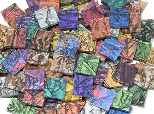 Van Gogh Glass Mosaic Tile - VAN GOGH STAINED GLASS Mosaic Tiles - 100 Glass Tiles, 1/2