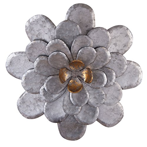 Cheap Foreside FWAD00551 Roadside Wall Flower, Small, Silver