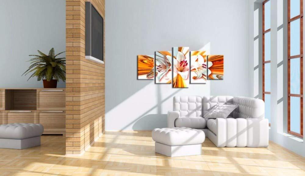 DYDONGWL Multi Panel Impresión Floral en Lienzo Moderno Flor Floral Impresión Abstracta Orquídea Pintura Decoración del hogar Sin Marco, 40X60cmX2 40X80cmX2 40X100cm 256693