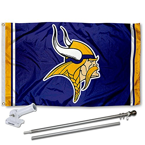 WinCraft Minnesota Vikings Flag Pole and Bracket Kit