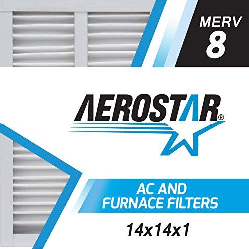 14x14x1 AC and Furnace Air Filter by Aerostar - MERV 8, Box of 12