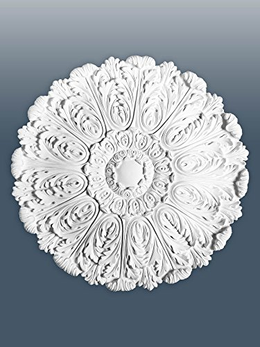 ORAC R27 Ceiling Rose Rosette Medallion Centre high quality polyurethane sharply defined white 75 cm = 29 inch diameter by Orac Décor