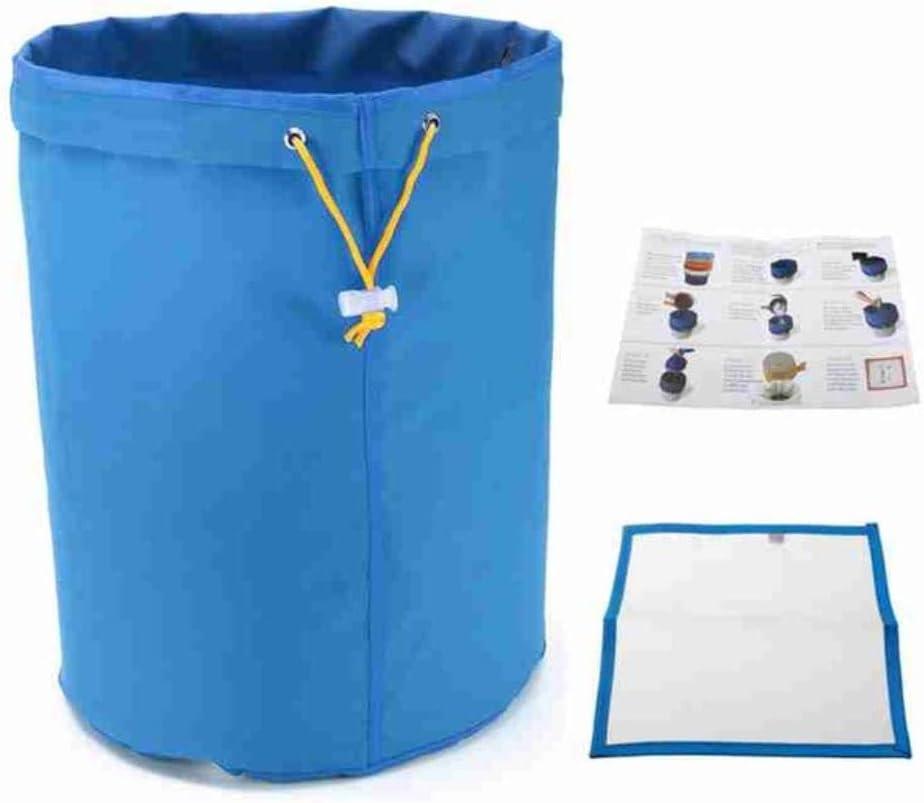QINS 1 Unids Galón Multi Color Bubble Hash Bolsa de filtración a Base de Hierbas Tamaños de micras Pantalla de prensado Bolsa de Burbujas de Filtro de residuos Vegetales, Azul