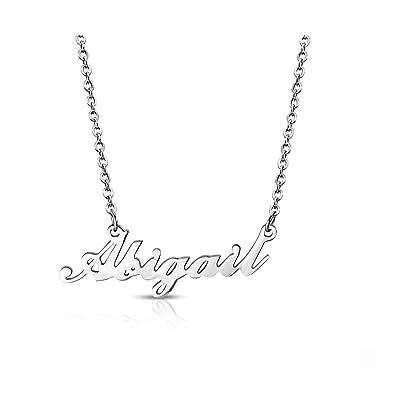 Amazon.com: Acero inoxidable Abigail nombre personalizado ...