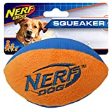 Nerf Dog Small UltraPlush Trackshot Football Dog Toy, Orange/Blue Review